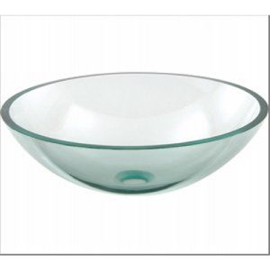 Aquabrass AB GC131 Clear Glass Round Clear Tempered Glass Basin