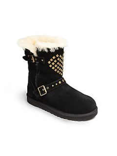 UGG Australia Toddler & Girls Adrianna Studded Motorcycle Boots   Black