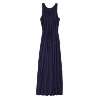 Merona Petites Sleeveless Maxi Dress   Navy XXL