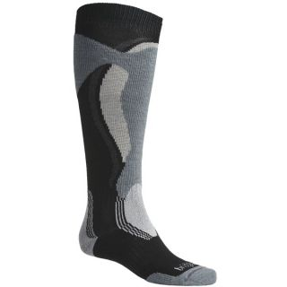 Bridgedale Control Fit Socks   Midweight  Merino Wool (For Men and Women)   BLACK/STONE (S )
