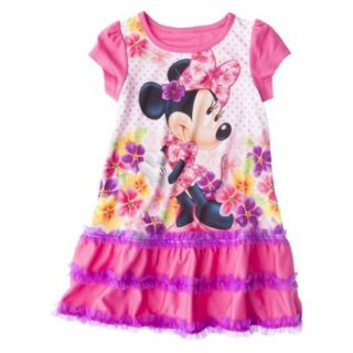 Disney Minnie Mouse Toddler Girls Nightgown   Pink 2T