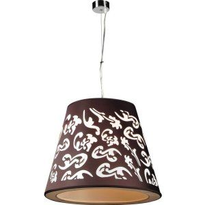 PLC Lighting PLC 73037 BLACK Infinity 1 Light Pendant Infinity Collection