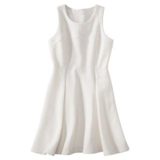 labworks Womens Ponte Sleeveless Dress   White XS