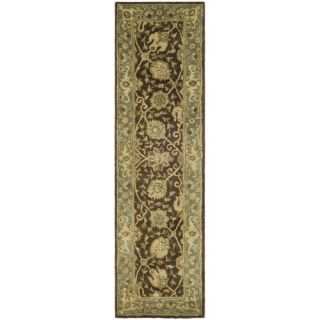 Safavieh Antiquities Brown/Green Rug AT21G Rug Size Runner 23 x 8