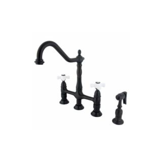 Elements of Design ES1275PXBS New Orleans Two Handle Kitchen Faucet With Spray
