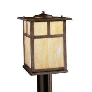 Kichler 9953CV Outdoor Light, Arts and Crafts/Mission Post Mount 1 Light Fixture Canyon View
