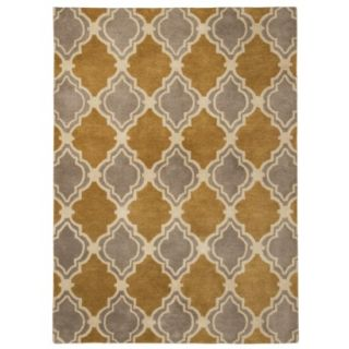 Threshold Traditional Fretwork Wool Area Rug   Sahara Gold (7x10)