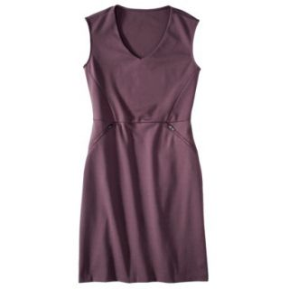 Mossimo Womens Ponte Sleeveless Dress w/ Zippered Pockets   Berry Lacquer XL