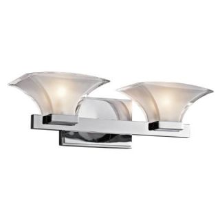 Kichler 45037CH Bathroom Light, Transitional Bath 2Light Fixture Chrome