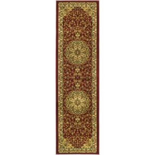 Lyndhurst Collection Traditional Red/ivory Runner (23 X 6)