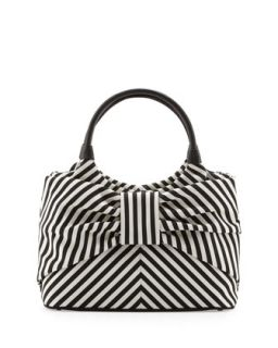 Sutton Seaside Stripe Tote, Black/Cream   kate spade new york