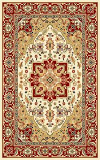 Lyndhurst Collection Ivory/red Polyester Rug (33 X 53) (IvoryPattern OrientalMeasures 0.375 inch thickTip We recommend the use of a non skid pad to keep the rug in place on smooth surfaces.All rug sizes are approximate. Due to the difference of monitor