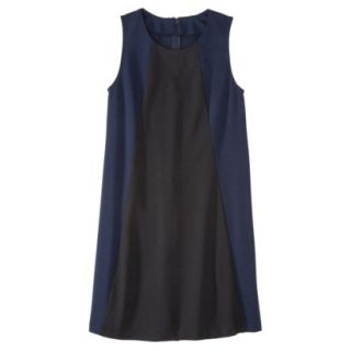 Mossimo Womens Colorblock Shift Dress   Xavier Navy/Black XL