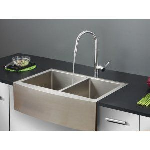 Ruvati RVC2442 Combo Stainless Steel Kitchen Sink and Chrome Faucet Set