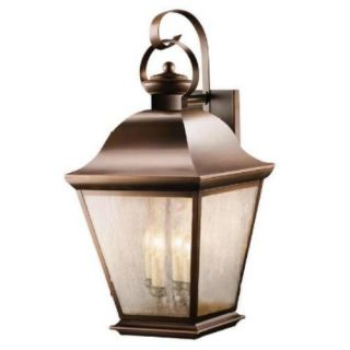 Kichler 9704OZ Outdoor Light, Classic (Formal Traditional) Wall 4 Light Fixture Olde Bronze