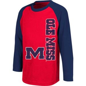 Mississippi Rebels Colosseum NCAA Kids Warrior Long Sleeve Raglan T Shirt