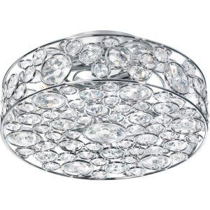 Dainolite DAI LYN 13 4FH PC Lynda 4 Light Crystal Semi Flush Fixture