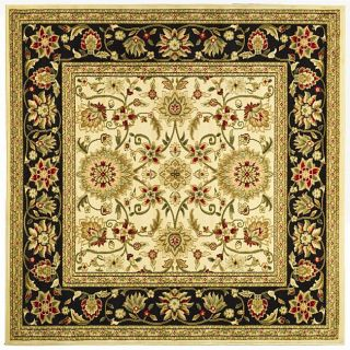 Lyndhurst Collection Majestic Ivory/ Black Rug (6 Square)