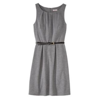 Merona Womens Textured Sleeveless Belted Dress   Heather Gray   XS