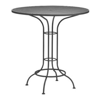 Woodard Commercial Grade Wrought Iron Bar Height Dining Table   190057 75, 42