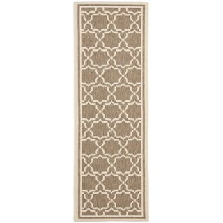 Safavieh Indoor/outdoor Courtyard Brown/bone Runner Rug (24 X 14)