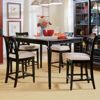 American Drew Camden Black Counter Height Table   919 705
