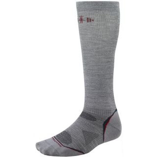 SmartWool PhD Ultralight Graduated Compression Socks   Merino Wool (For Men and Women)   LIGHT GREY (S )