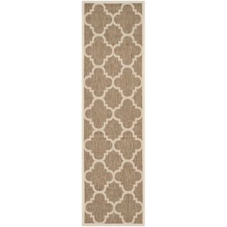 Safavieh Indoor/ Outdoor Courtyard Brown Rug (23 X 67)