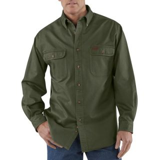 Carhartt Heavyweight Cotton Shirt   Long Sleeve (For Men)   MOSS (L )