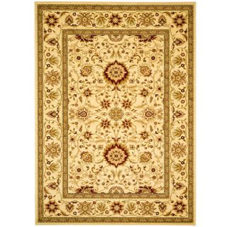 Lyndhurst Collection Majestic Ivory/ Ivory Rug (6 X 9)