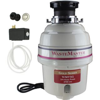 Wastemaster 3/4 hp Garbage Disposal With Stainless Steel Air Switch Kit (Stainless SteelIncludes Air Switch and Disposal FlangeHardware finish SteelModel WM75G_20Assembly Required )