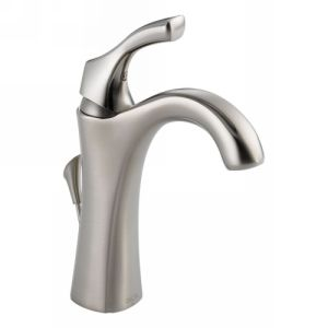 Delta Faucet 592 SS DST Addison Single Handle Centerset Lavatory Faucet