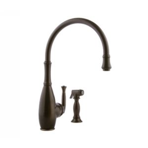 Meridian Faucets 2066050 Universal Single Lever Kitchen Faucet with Side Spray