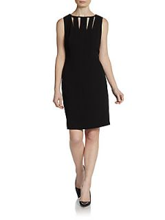 Sleeveless Cutout Sheath Dress   Black