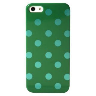 Mobilexpressions Polka Dot Case for iPhone5   Blue/Green (ME2007)