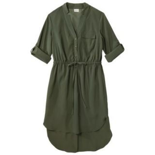 Merona Womens Drawstring Shirt Dress   Moss   M