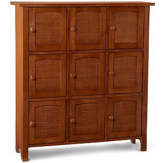 Wicker & Wood 9 Door Kitchen Cabinet, Mocha