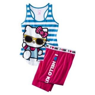 Hello Kitty Juniors PJ Set   Blue XL(15 17)