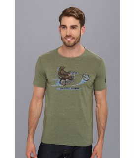 Lucky Brand Chopper Bear Mens T Shirt (Gold)
