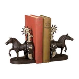 AA Importing Co Inc Cast Iron Horse and Spur Bookends Multicolor   13811
