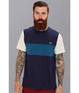 Fred Perry Colour Block T Shirt Mens T Shirt (Navy)