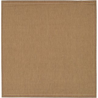 Recife Saddle Stitch Cocoa Rug (76 Square) (BrownSecondary colors Natural beigePattern StripeTip We recommend the use of a non skid pad to keep the rug in place on smooth surfaces.All rug sizes are approximate. Due to the difference of monitor colors,