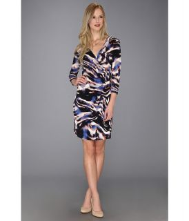 Calvin Klein Print Wrap Matte Jersey Dress Womens Dress (Multi)