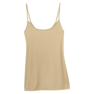 JKY By Jockey Womens Nylon Stretch Cami   Toasted Beige M