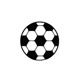 Soccer Ball Vinyl Wall Decal (BlackEasy to apply You will get the instructionDimensions 22 inches wide x 35 inches long )