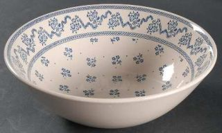 Johnson Brothers Petite Fleur Blue 8 Round Vegetable Bowl, Fine China Dinnerwar