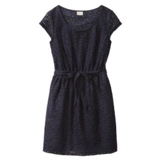 Merona Womens Lace Sheath Dress   Xavier Navy   XS