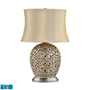 Dimond Lighting DMD D2168 LED Serene Table Lamp with Light Beige Faux Silk Shade