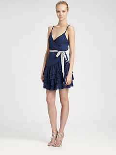 Nicole Miller Tiered Dress   Royal Navy