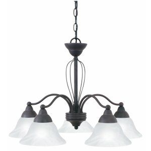 Thomas Lighting THO SL801811 Cortland Chandelier Bronze Florentine 5x